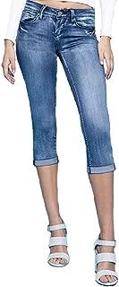 YMI Women's Luxe Single Button Roll Cuff Flood