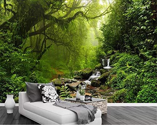 Personalisierte moderne Fototapete 3D Wald Stream TV Hintergrund Wand Natur Landschaft Wohnzimmer Wand Tuch Tapete