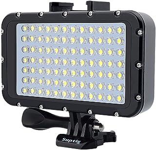 Ledmomo 50 m/164 ft waterdicht, oplaadbaar, dimbaar, camera met 84 LED's, 5000 lm, onderwatercamera, videolampen voor GoPr...