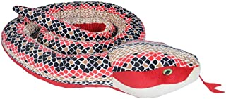 Wild Republic Snakes, Super Jumbo Snake Plush, Giant Stuffed Animal, Plush Toy, Gifts for Kids, Red Scales, 113