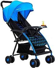 N/ A Cochecito de bebé y Silla de Paseo para niños pequeños Asiento Plegable Ligero y cómodo Sentado o acostado para bebés de 0 a 3 años Rojo Azul (Color:Rojo)