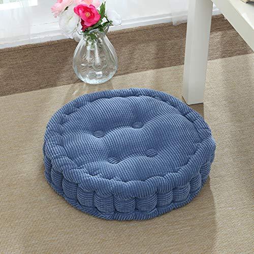 Corduroy Thicken Round Tatami Seat Cushion,Solid Color Elastic Futon Seat Cushion,Soft Floor Pillow for Yoga Sofa Balcony Bay Window