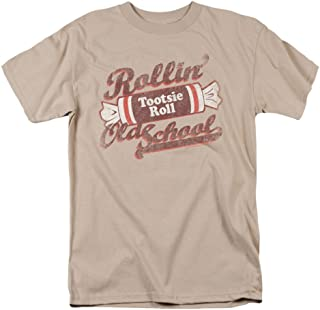 Tootsie Roll Chocolate Candy Rollin' Old School Vintage Style Adult T-Shirt Tee