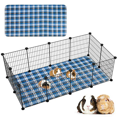 Geegoods Guinea Pig Cage Liners Guinea Pig Bedding Washable &Air Dried Pee Pads for Guinea Pig Fast Absorbent Waterproof Reduce Shrinkage Non-Slip 24''x 48''