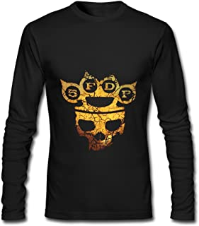 Five Finger Death Punch Tour 2016 Poster Long Sleeve T-Shirts For Men Black