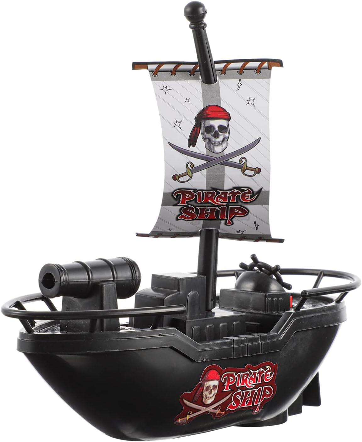 TOYANDONA 1pc Electric Pool Pirate Toy Model Bombing new work Elegant T Warship Boat