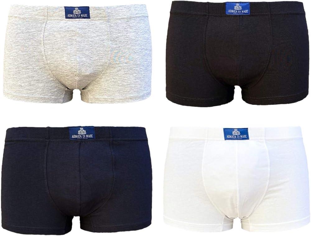 Armata di mare ,  3 paia di mutandine , boxer parigamba da uomo , in  cotone elasticizzato