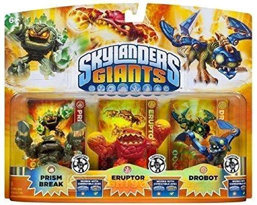 Skylanders Giants Lightcore Max 77% OFF 3 Pack: Break Selling rankings Prism Eruptor Drobot