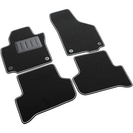 Kh Teile Fußmatte Passend Für Yeti Premium Qualität Velours Automatte Fahrermatte Schwarz Auto