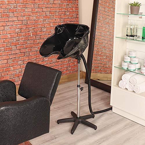 Hairdressers Delux Portable Tilting Black Backwash Stand by Angel