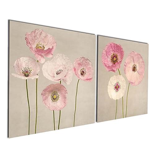 Gardenia Art   Pink Flowers Modern Canvas Wall Art Paintings Red Flowers  Artwork For Bedroom Living