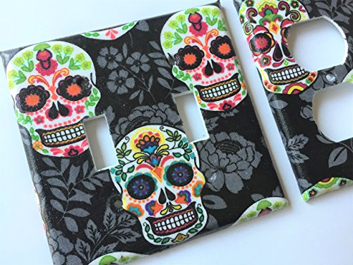 Sugar Skull Light Switch Cover Day of The Dead Various Size Light Switchplates Offered