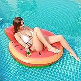 Cozywind Flotador de Piscina Sandía Hinchable Colchoneta Anillo Piscina Anillo de Natación Verano Cama de Playa Flotante de 120 cm, Juguetes Inflables para Piscina para Adultos Fáciles de Inflar