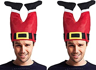 Santa Christmas Hat - Funny Hat Novelty Santa Hat Crazy Hats Santa Pants Hat Christmas Accessories