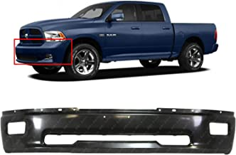MBI AUTO - Primered Gray, Steel Front Bumper Face Bar Fascia for 2009 2010 2011 2012 Dodge RAM 1500 W/Fog 09 10 11 12, CH1002384