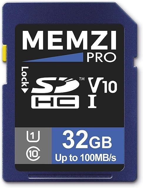 Memzi Pro 32GB clase 1080MB/s tarjeta de memoria SDHC para Kodak Pixpro AZ651 AZ526 AZ525 AZ522 AZ521 AZ501 az422 AZ421 az401 AZ365 AZ361 AZ362y az252 AZ251Cámaras digitales
