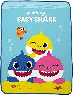 Baby Shark Plush Throw Blanket - 46 in. x 60 in.