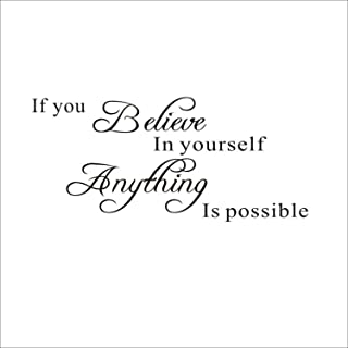 Kaariss If You Believe in Yourself Anything Is Possible Waterproof Removable Wall Sticker DIY Home Room Office Decor Decor...