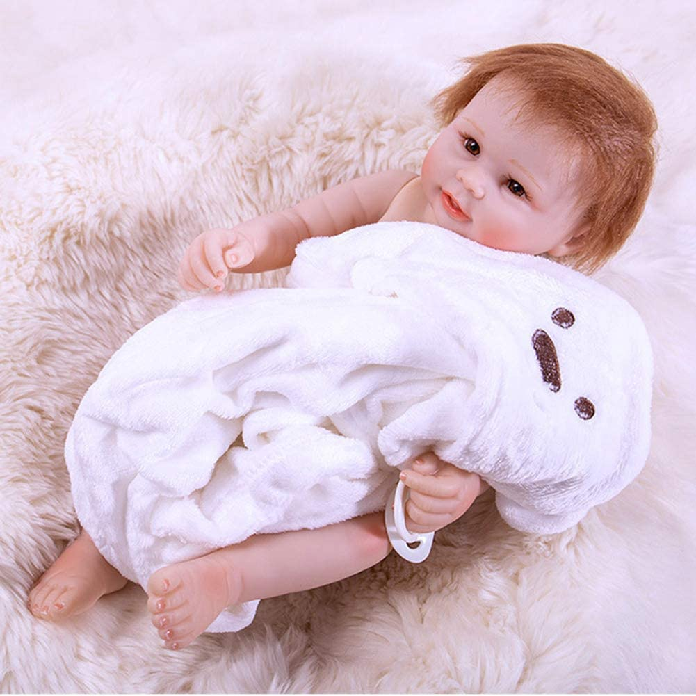 MEESock 19.6 inch Ranking TOP2 Free shipping on posting reviews 50cm Realistic Reborn Viny Baby Dolls Soft Boy