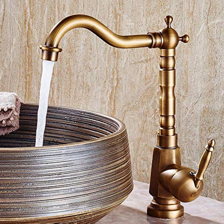 Waschbecken Wasserhahn - weit verbreitet antikes Kupfer Centerset einzigen Griff ein Loch