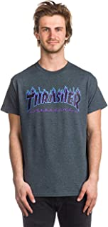 Thrasher Skateboard Magazine Flame T-Shirt (Dark Heather)
