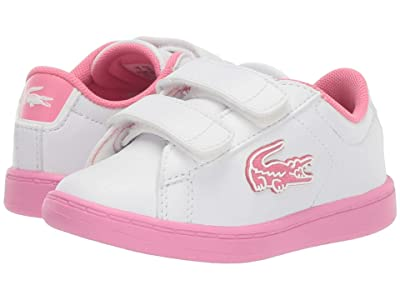 Lacoste Kids Carnaby Evo 319 1 (Toddler/Little Kid) (White/Pink) Kid