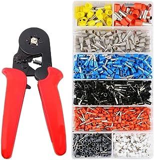 GDFEH Outils de sertissage à cliquet auto-réglable de la ferrule de ferrule, Dechengbao 0,25-10mm² Touches de sertissage à...