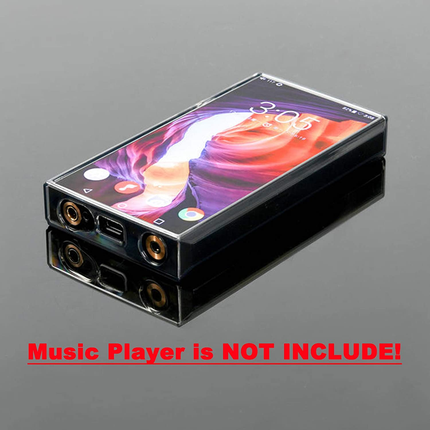 Soft TPU Protective Case for FiiO M11 Pro Stainless Steel Version Music Player Clear Black