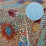 laro Wachstuch-Tischdecke Abwaschbar Garten-Tischdecke Wachstischdecke PVC Plastik-Tischdecken Eckig Meterware Wasserabweisend Abwischbar |14|, Größe:100x140 cm - 4