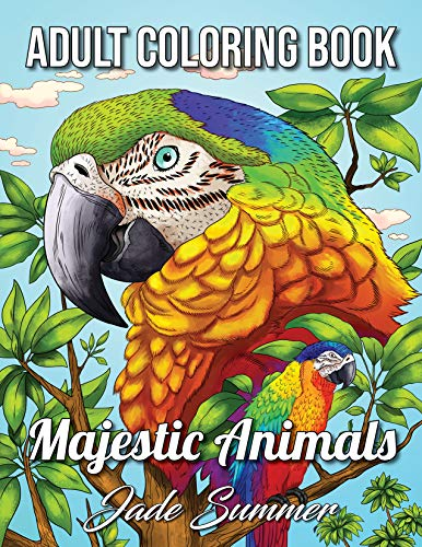 Majestic Animals: An Adult Coloring Book with Detailed Animal Portraits and Relaxing Nature Scenes