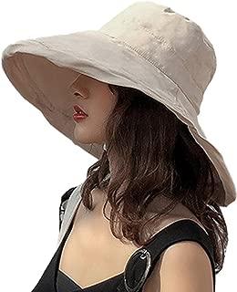 UVカット 帽子 レディース 日よけ帽子 綿 大きいサイズ つば広 折りたたみ 紫外線対策 小顔効果 あご紐つき 両面使える 旅行 自転車 夏 春 アウトドア 無地 コットンリネン