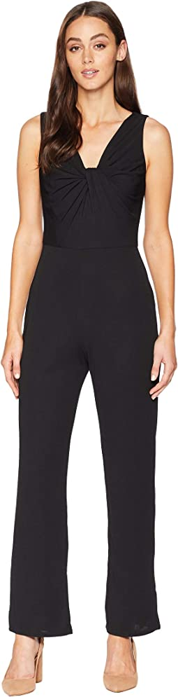 Tissue Jersey Twist Front Jumpsuit