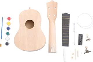 HEALLILY 1 Set Of DIY Ukulele Kit Wooden Ukulele Painting 4 String Ukulele Kit DIY Musical Instruments Hawaii Guitar for P...