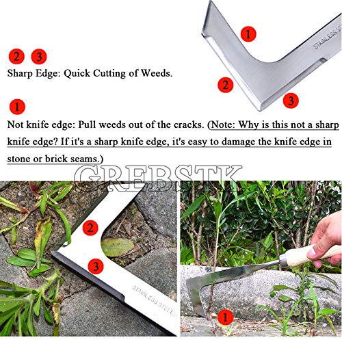 GREBSTK Crack Weeder Crevice Weeding Tool Manual Weeder Lawn Yard Gardening Tool