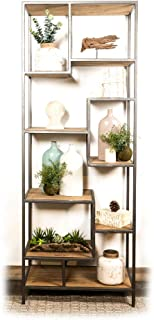 From Wood and steel brand, Shelf: Edmonton shelving unit for living room furniture shelf storage shelf home interior furni...