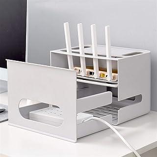 massager Caja de Almacenamiento de enrutador inalámbrico, Caja de Almacenamiento de PVC, Cable de alimentación Cable WiFi ...