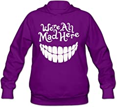RABBEAT Women's Hoodies We are All Mad Here Purple
