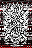 Notebook: Skull In Ornamental Illustration And Pattern Background , Journal for Writing, College Ruled Size 6' x 9', 110 Pages