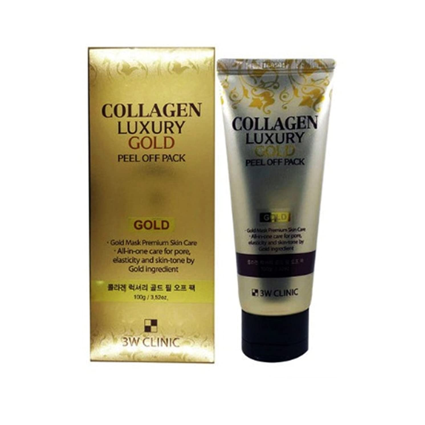 回復最も早い月【韓国 3W CLINIC】COLLAGEN LUXURY GOLD PEEL OFF PACK 100g