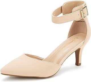 e8dfa81c0d53 DREAM PAIRS Women s Lowpointed Low Heel Dress Pump Shoes