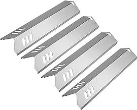 Uniflasy 15 Inch Grill Heat Plate Shield, Burner Cover, Flame Tamer for Dyna-glo DGF510SBP, DGF510SSP, Backyard GBC1460W, GBC1461W, BY13-101-001-13, Uniflame, Montana, BHG Grills, Stainless Steel 4PK