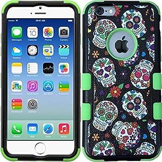 iPhone 6 Plus Case, iPhone 6s Plus Case, Rugged Tuff Case Dual Layer Shock Proof Bumper Protective Phone Cover - Sugar Skull