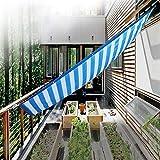 YUDEYU Red De Sombra Al Aire Libre Toldo Protector Solar Aislamiento De Enfriamiento Sombrilla Tiras Blancas Azules (Color : A, Size : 0.6x0.9m)