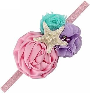 YanJie Aqua Lavender Glitter Starfish Mermaid Headband for Baby Birthday Gift