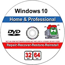 9th and Vine Compatible Windows 10 Home and Professional 32/64 Bit DVD. Install To Factory Fresh, Recover, Repair and Rest...