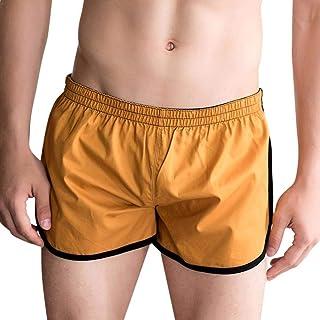 Men's Cotton Home Pants Boxer Modern Casual Shorts Sport Shorts Bulge Pouch Underpants Under Warming Slips Briefs Underpants
