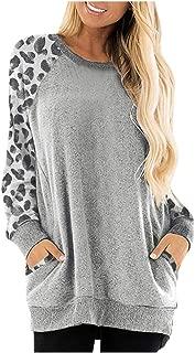 Respctful✿ Womens Oversized Long Sleeve Casual Crew Neck Pullover Loose Sweatshirt Tunic Tops T-Shirt