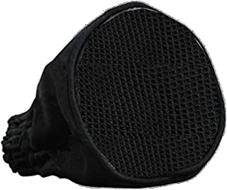 MagiDeal Professional Hairdressing Foldable Canvas Black Universal Hair Dryer Sock Diffuser Travel Wind Blower Attachment Cover Fit All Blow Tool