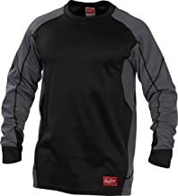 Rawlings Kids' Youth Athletic Fit Pullover, Black, Small