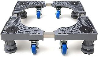Support base pour lave-linge, support base mobile multifonctionnel, roulettes chariot à rouleaux réglables pour appareils ...